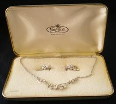 Van Dell Rhinestone Jewelry Set Sterling Silver - $45.00