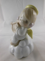 "Precious Moments Angel on Cloud w Harp Salt & Pepper Shakers 1995 excellent 4.5"" - $9.89"