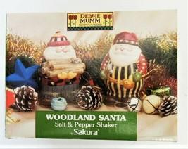 Debbie Mum Sakura Earthenware Woodland Santa Salt & Pepper Shakers image 1