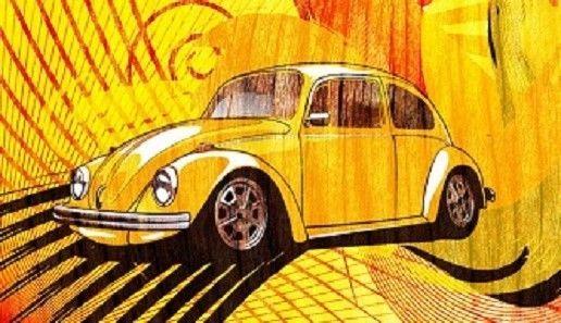 Volkswagen Beetle - VW - Magnet #15