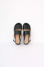 Ideal Black Color Contrast Sole Peep Toe Sling-Back Ladies Pure Leather Sandals - $119.99+