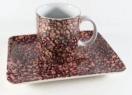 Vintage 2007 NOS New Coffee Bean STARBUCKS Mug Cup & Dessert Plate - $24.29