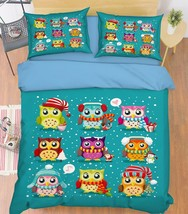 3D Cute Birds 18 Bed Pillowcases Quilt Duvet Cover Set Single Queen King Size AU - $90.04+