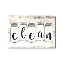 Dishwasher Sign Mason Jars Clean Dirty Flip Magnet Farmhouse country Shi... - $9.00