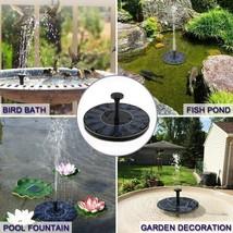 Mini Fountain Solar Floating Water Pool Pond Waterfall Garden Outdoor Bi... - $12.79
