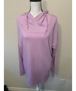 Athletic Works Women's Soft French Terry Lightweight Tunic Hoodie Pullov... - $15.95