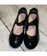 Black Capezio Girls Tap Dance Shoes Sz 10 - $14.40
