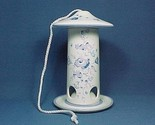 52954a bird feeder ceramic blue floral thumb155 crop