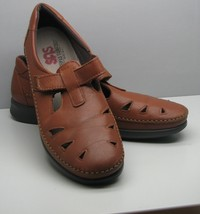 SAS Brown Leather SHOES Woman's 10 N Adjustable Strap Tripad Comfort Sof... - $37.61