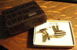 Swank Vintage or Boutons de Manchette - mi Siècle Moderne Collégial - $24.62