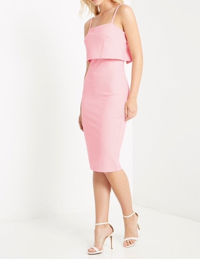 Pink Sheath Dress, Pink Bodycon Dress, Old Hollywood Inspired Grace Kelly Dress