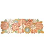 "Fully Beaded Floral Table Runner Spring Easter Stunning New 36""x13"" - $68.80"