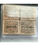 Stampin Up Lexicon Of Love Wood Stamp Set 2005-NEW-Celebrate Friend Than... - $10.64