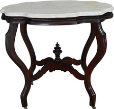 17499 Victorian Marble Top Turtle Top Table - $345.00