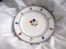 "Tulip Tyme  7"" Bread Dessert Plate (s) With Design  1985 JP Marketing New - $9.89"