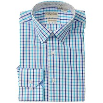 New Berlioni Italy Boys Kids Toddlers Cotton Dress Shirt Modern Fit Light Blue