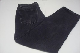 Wrangler Relaxed Fit Mens Jeans Sz 33/30 Straight Leg Black - $11.53