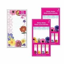 Bundle Set of Elegant Floral Design Stationary Desk Accessories: 1 Magne... - $8.79