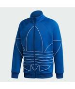 Adidas Originals Men's Blue Big Trefoil Outline Track Top Sporty Jacket ... - $109.97