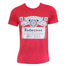 Budweiser Heather Beer Logo Tee Shirt Red - $29.98+