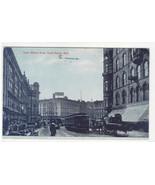 Lower Monroe Street Streetcar Grand Rapids Michigan 1907 postcard - $6.44