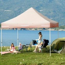 Durable 10x10ft Pop up Gazebo with 4 Height and Adjust Folding  Awning -... - $300.88