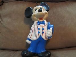"Vintage Ceramic Mickey Mouse Figurine~9"" Tall~Walt Disney Productions - $9.50"