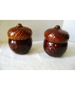 CERAMIC ACORN SALT & PEPPER SHAKERS - $5.00