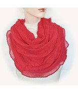 New CEJON Soft Cozy Shiny Ruched Infinity Scarf Women's Lightweight Loop... - $12.98