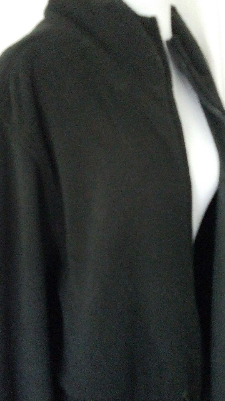Black Reversible Rain Jacket Corduroy To Gortex Nylon Hood Pockets