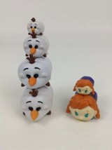 Disney Tsum Tsum 6pc Lot Frozen Olaf Anna Stacking Toys Jakks Toy PVC - $11.53