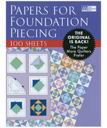 Papers for Foundation Piecing, 100 Sheets, Brand New Old Stock for Your ... - $13.77