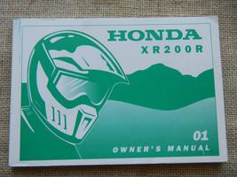 2001 01 Honda XR200R Xr 200 Owner Owners Manual - $12.88