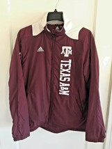 Texas A&M AGGIES Adidas Team ClimaProof Full-Zip Pullover Jacket Scorch Size Sm - $29.39