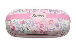 Simple Creative Double Contact Lens Cases Glasses Storage Box Pink White Stripes - $21.82