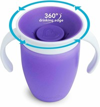 Munchkin Miracle 360 Trainer Cup 207ml Purple - $20.44