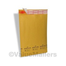 600 100 #0 6.5x10 Kraft Bubble Mailers Envelopes and 500 6x9 Poly Mailer... - $30.95
