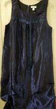 liz lange maternity dress size med blue sleeveless - $11.30