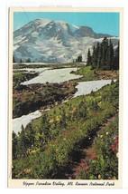 Washington State Mt Ranier National Park Upper Paradise Valley Vintage Postcard - $4.99