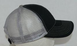Mega Cap 7641 Grey Mesh Back Black Twill Front Trucker Hat image 4