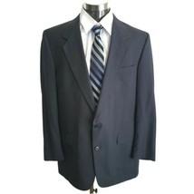 Austin Reed Blazer Jacket Sport Suit Jacket Two Button 44L Dark Gray Woo... - $49.49