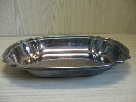 Silver Plate Serving Bowl Tray Rib Corners Crescent Silver Co 1922-1977 - $9.95