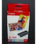 Canon KC-36IP Color Ink Cassette & Color Print Paper Card Size 36 Sheets... - $17.81