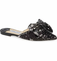 Jimmy Choo Georgia Sequin Bow Mule Shoes Size 36 Msrp: $650.00 - $445.50