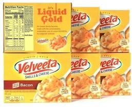 6 Boxes Velveeta 10.3 Oz Shells & Cheese Oscar Mayer Bacon Creamy Sauce ... - $38.99