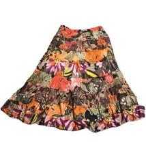 Allison Brittney Woman's Prairie Maxi Skirt Boho Cotton Multicolor Plus ... - $8.51
