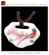 Deluxe Porcelain Pendant Necklace Jewelry 100% Handcrafted Jingdezhen Ar... - $28.00