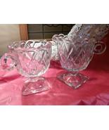 Indiana Glass Sugar Creamer Set Depression Glass Pretzel Pattern Sugar a... - $15.00