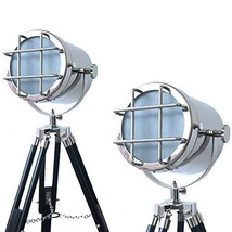 NauticalMart Modern Retro Focus Floor Lamp Searchlight Art Decor Tripod  - $159.00