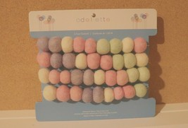 NIP ODELLETTE EASTER PASTEL FELTED WOOL BALLS/EGGS 6 FOOT GARLAND - $15.79